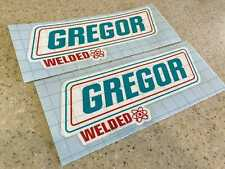 "Gregor Vintage Fishing Boat Decals 10"" 2-Pak Vinyl Free Ship + Fish Decal!"