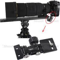 Teleobjektiv Halter Schiene für Kamera Platte Schnellwechselplatte Stativschelle