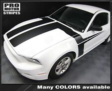 Ford Mustang 2013-2014 Hood and Side Accent Stripes Decals (Choose Color)