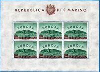 1961 - San Marino - Foglietto Europa - nuovo MNH