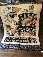Mary Engelbreit Quilt Blanket/ Wall Hanging {Life Is Just A Chair Of Bowlies}