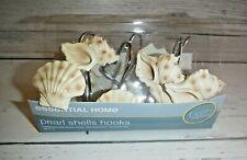 Pearl Seashell Sea Shell Tropical Nautical 12 Shower Curtain Hooks Bath Decor
