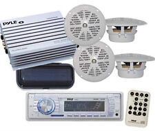 200W New Marine Boat MP3 WMA USB Media Receiver 4 X Speakers 400Watt Amp Package