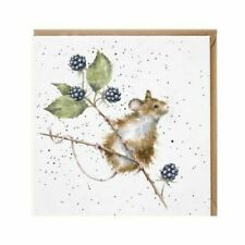 Wrendale Designs Mouse Blank Greeting Card - Brambles by Hannah Dale