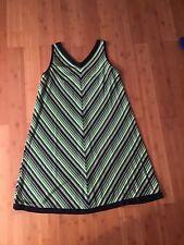 Vintage Arkay Sleeveless Chevron Pattern Dress Size 14-18