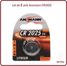 1 pila de botón CR2025 litio Ansmann