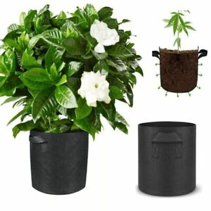 1-5 Gallon Big Plant Grow Bags Flower Pots Fabric Gardening Jardin Seedling Pots