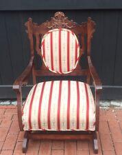 Victorian Platform Rocker Antique Upholstered Rocking Chair