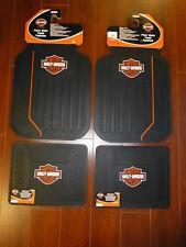 Harley-Davidson Elite Front and Rear Car Truck Rubber Floor Mats Set NEW