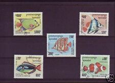 1818++CAMBODGE   SERIE TIMBRES  POISSONS
