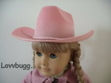 Lovvbugg Pink Cowboy Hat Riding for 18 inch American Girl Doll Clothes Accessory