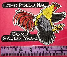 POLLO GALLO ORGULLO ROOSTER MEXICAN ART SPANISH IRON ON SEW ON EMBROIDERED PATCH
