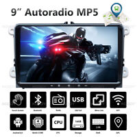 "9"" 2 DIN Android 8.1 Autoradio Bluetooth GPS NAVI For VW GOLF 5 6 Caddy Tiguan"