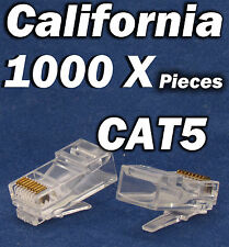 1000 Pcs RJ45 CAT5 CAT5E 8P8C Modular Network Cable LAN Connector End Plug LOT