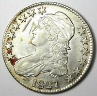 1827 Capped Bust Half Dollar 50C - Choice AU Details - Rare Date Coin!