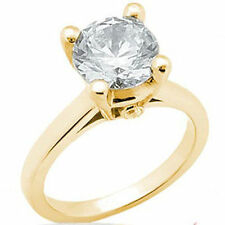 1.05 carat Round Cut Diamond Solitaire Engagement Wedding 14k Yellow Gold Ring