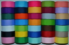 "LOT 35 YARDS GROSGRAIN RIBBON SOLID COLORS 7/8 INCH ""REF12"