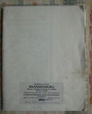 Schaffmanns Karte Brandenburg Havel Landkarte Potsdam Cottbus Frankfurt/O. 1953