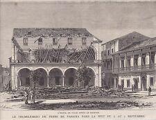 1882  --  TREMBLEMENT DE TERRE DE PANAMA DANS LA NUIT DU 6 AU 7 SEPTEMBRE  3I698