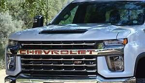 2019-21 Silverado 1500 Custom front grille letter inserts CHEVROLET red