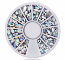 6cm 3D NAIL GEMS JEWELS DESIGN CRAFT NAILS ART WHEEL FLATBACK GEM 6CM WHEEL