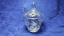 Lidded Sugar Bowl Star Pattern Clear Glass