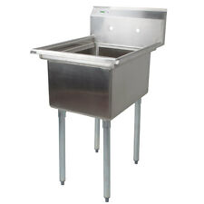 """22"""" Stainless Steel Nsf One Compartment Commercial Restaurant Kitchen Sink"""
