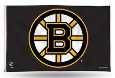 "Boston Bruins NHL Banner Flag 3' x 5' (36"" x 60"") ~ NEW"
