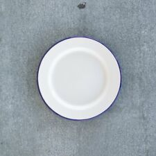 Falcon White & Blue Enamel Side Plate 20cm
