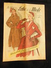 Le petit ECHO de la MODE 1949 n°41 patron faites votre manteau d'hiver gants
