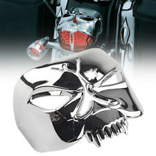 Motorcycle Tail Light Cover Zombie Skull Fit For Harley Softail Road King Chrome