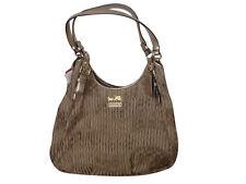 NWT COACH GATHERED Signature  Maggie Gold shoulder bag Purse 18886