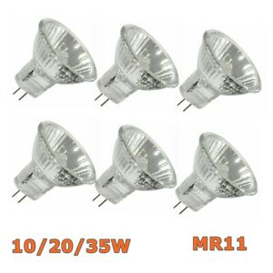 10/20/35W 12V 10Pcs Replace Halogen Bulbs Spotlight Lamps Downlight Spot MR11