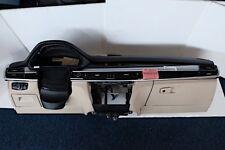 Bmw X5 F15 Instrumententafel panel dashboard leder schwarz weiss armaturenbrett