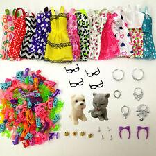 Barbie Doll Accessories 34 Item Set Pet 8pcs Shoes 4 Necklace 4 Glasses 2 Crowns