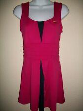 Euc! Womens Size S Nike Dri-Fit Tennis Dress Fushia / Navy / Neon 5209