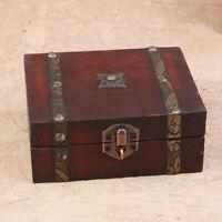 HN- Modern Jewelry Necklace Bracelet Storage Organizer Wooden Case Gift Box Litt