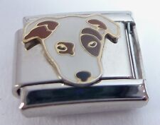 DOG Italian Charm - Brown & White Terrier Jack Russell 9mm fits Classic Bracelet