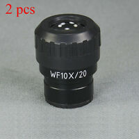 2 pcs WF10X Diopter-adjustable Eyepieces For Microscope 30mm Tube