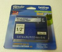 "Brother Genuine P-Touch Tze-131 Label Tape 1/2"" 12 mm Standard Laminated S-11"