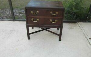 Vintage Heritage Nightstand Wood 2 Drawer