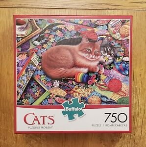 Buffalo Games - Cats - Puzzling Problem - 750 Piece Jigsaw Puzzle Pre-Owned