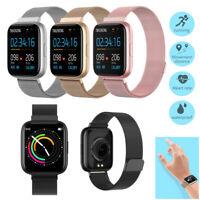 Damen Herren Smartwatch Fitness Tracker Uhr für iPhone Samsung LG Xiaomi Redmi