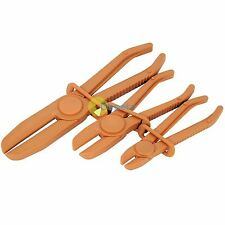 Professional 3Pc Flexible Hands Free Hose / Pipe Clamp Plier Set Brake Radiator