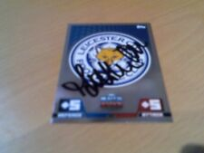 signed leicester city match attax badge of ex player matt piper