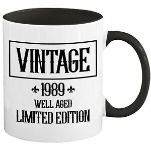 32nd Birthday Mug Coffee Cup 1989 Funny Gift For Women Men Her Him H-87A
