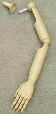 #031 Left Arm & Hand Only Articulate Posable Plastic Mannequin/Dress Form Arm