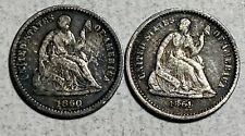 1860 and 1861 Seated Liberty Half Dimes H10C