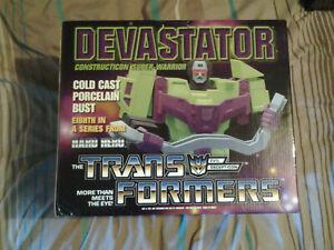 transformers  devastator bust