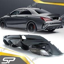 CLA45 AMG Diffusor + Auspuffblenden NightPaket für Mercedes Benz C117 X117 Mopf